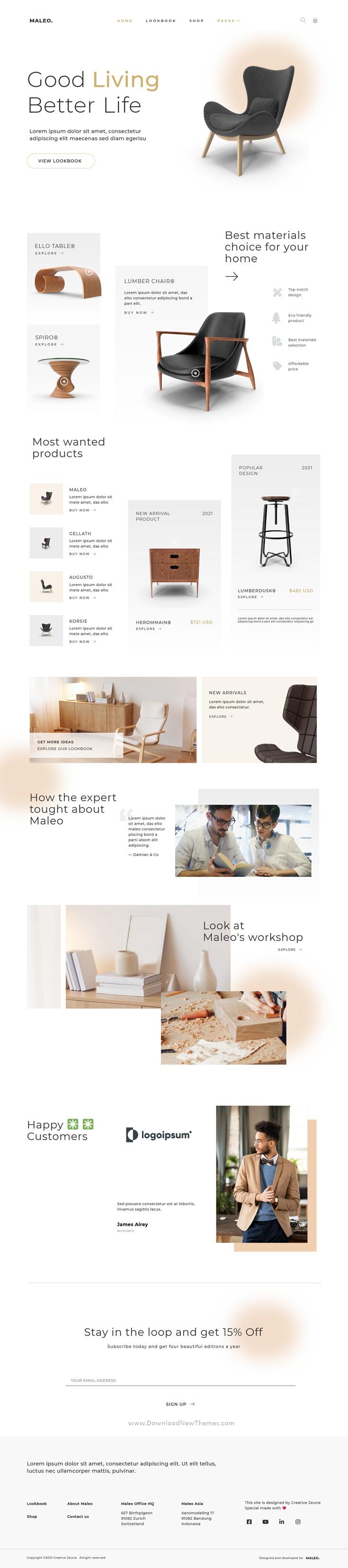 Minimal Home Decor and Furniture Template Kit
