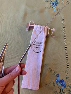 Goupillon pour nettoyer pailles en inox