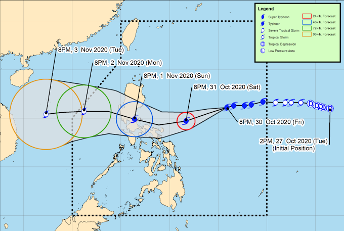 Rolly maintains strength moves closer to Bicol Region; Signal No. 2 over four provinces