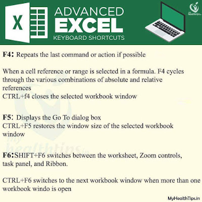 Excel shortcuts every day with Etipfree.com