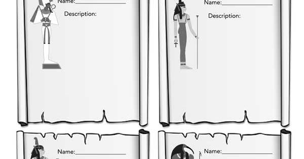 Worksheet Egyptian Gods Goddesses Egyptabout