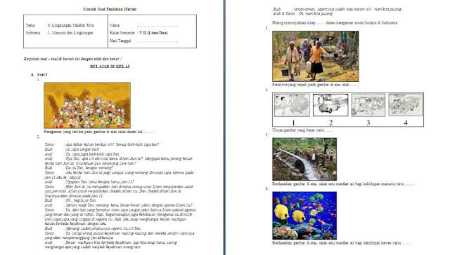 Soal ulangan harian kelas 5 SD/MI Tema 8