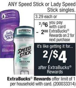 Cheap Speed Stick CVS Deal $0.25 8-9-8-15