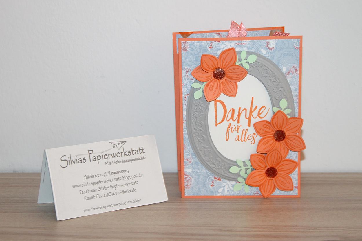 Silvias Papierwerkstatt Ziehharmonikakarte Fur Eine Liebe Dame