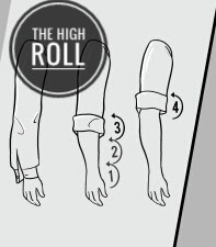 Steps of high roll method of rolling sleeves.