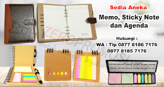 Memo Pad merupakan salah satu rekomendasi souvenir kantor yang cocok untuk diberikan kepada karyawan