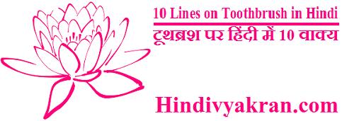 10 Lines on Toothbrush in Hindi टूथब्रश पर हिंदी में 10 वाक्य