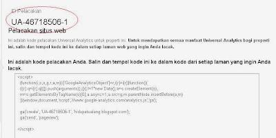 ID Pelacakan Google Analytics