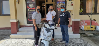Tim Puma Polres Lombok Utara Berhasil Amankan Satu unit Barang Bukti Ranmor