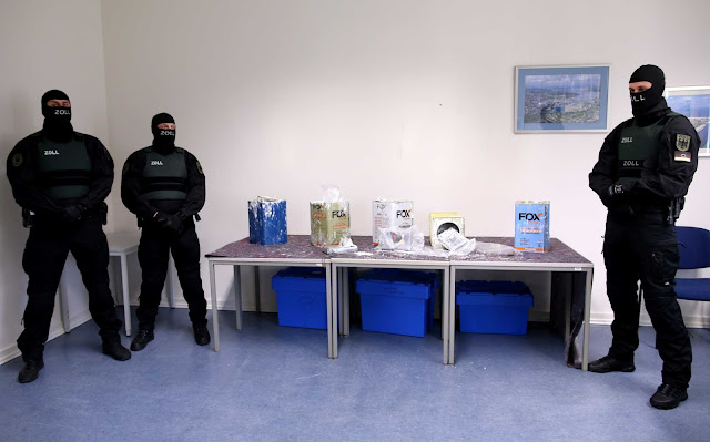 23 τόνων κοκαΐνης κατασχέθηκαν από τις αρχές της Γερμανίας και του Βελγίου