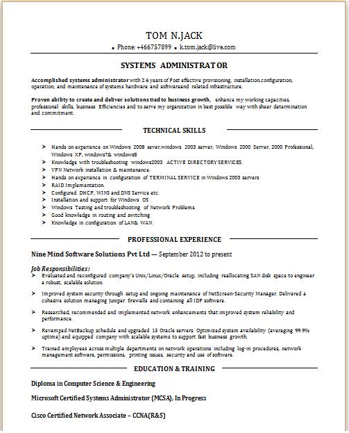 job sample resume for experienced network engineer - Associate Network Engineer