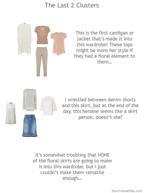 2 wardrobe clusters