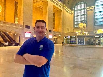 Eduardo Barão no Grand Central Terminal, em Nova York - Divulgação