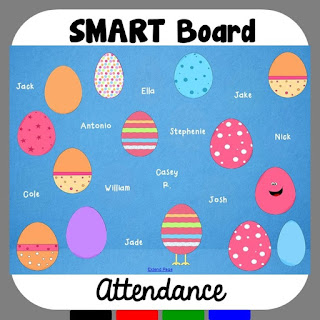 Easter Egg SMART Board Attendance