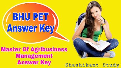 BHU-PET-Master-Of-Agribusiness-Management-Answer-Key