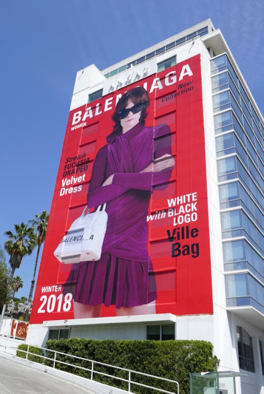Giant Balenciaga Women Winter 2018 billboard