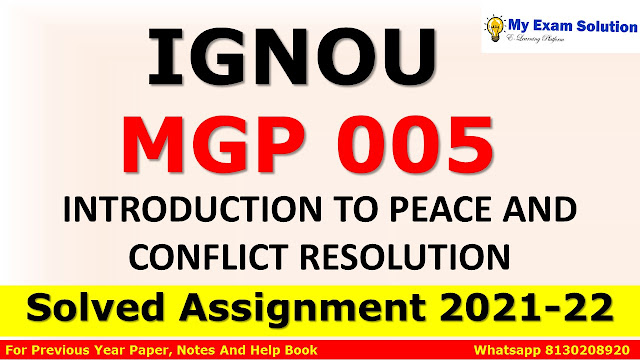 MGP 005 Solved Assignment 2021-22