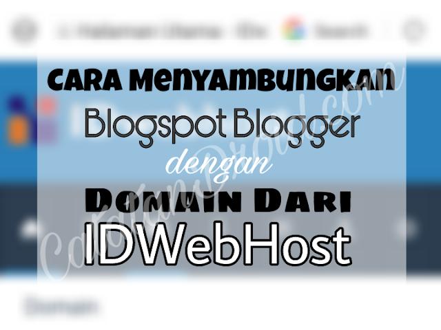 Cara Menghubungkan Blog dengan Domain Dari IDWebHost