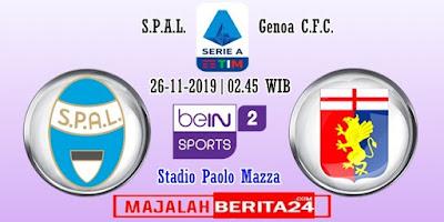 Prediksi SPAL vs Genoa — 26 November 2019