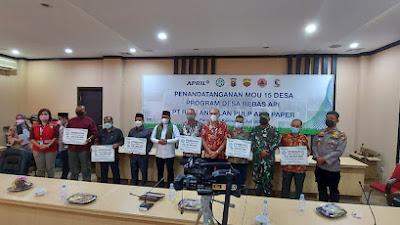 Inovasi Holistik Desa Bebas Api PT RAPP,  6 Desa Kabupaten Pelalawan Raih Penghargaan