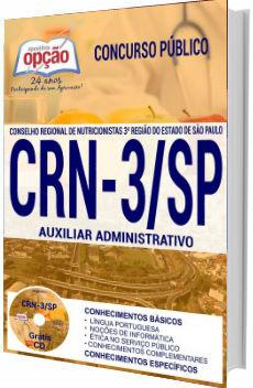 Apostila Concurso CRN-3/SP 2017 Auxiliar Administrativo I