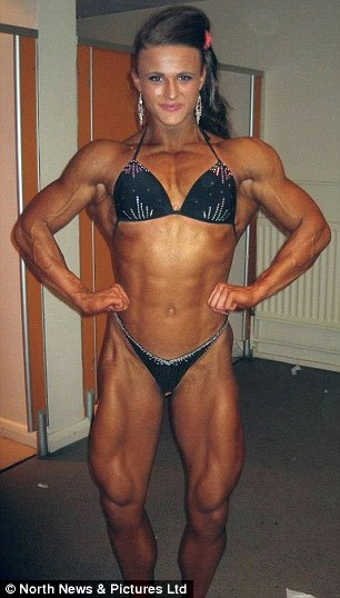Sexy muscle women in bikinis