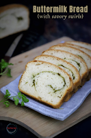 Buttermilk bread with savory swirls