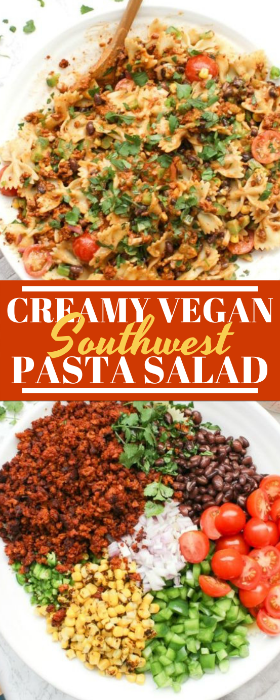 Creamy Vegan Southwest Pasta Salad #vegan #salad