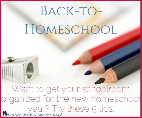 Tips for organizing your homeschool schoolroom