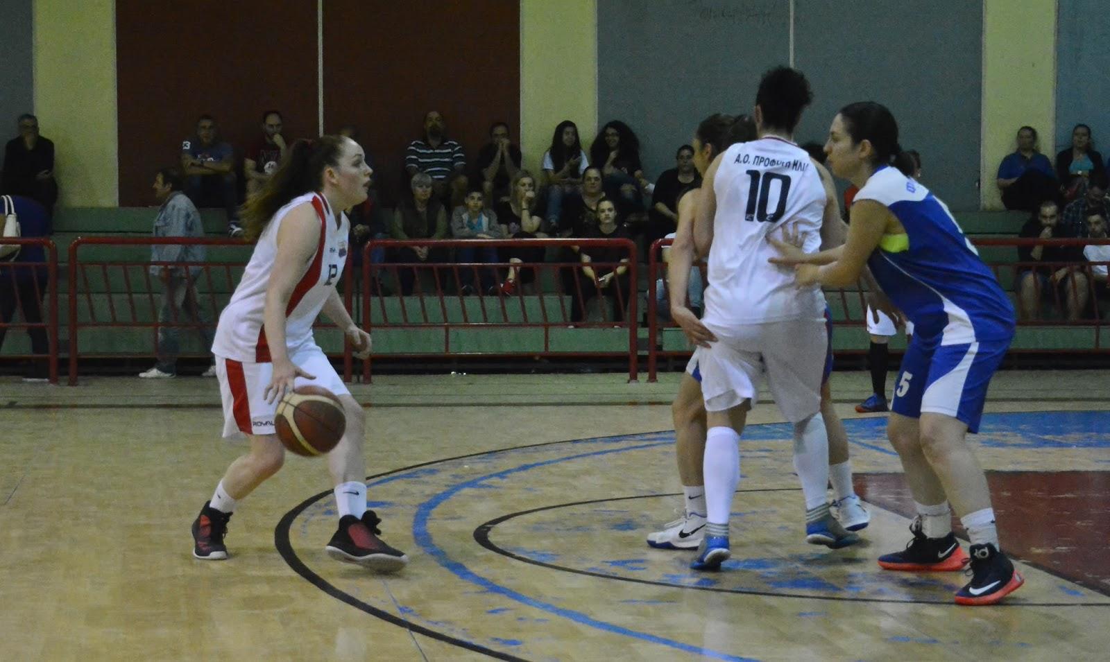 ΓΥΝΑΙΚΕΣ : Στον τελικό των γυναικών ο Προφ. Ηλίας 48-39 τον Φοίνικα Πειρ. και 2-1