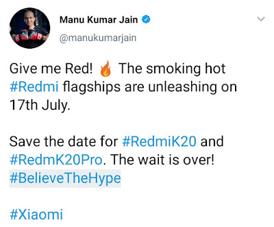 Redmi K20 and K20 Pro India launch date announced