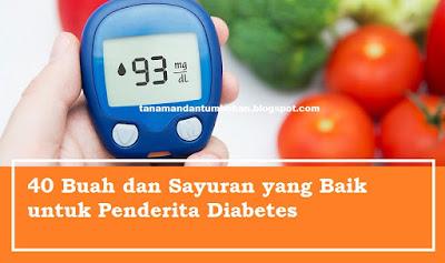 Buah dan Sayuran yang Baik Dikonsumsi Penderita Diabetes