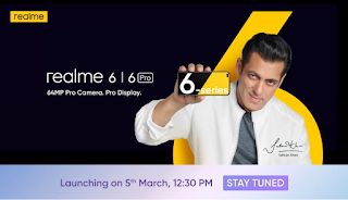 Realme 6 Series Launching on 5th March, 12:30 PM Buy Now