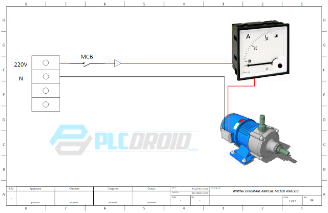 Wiring Ampere Meter Analog