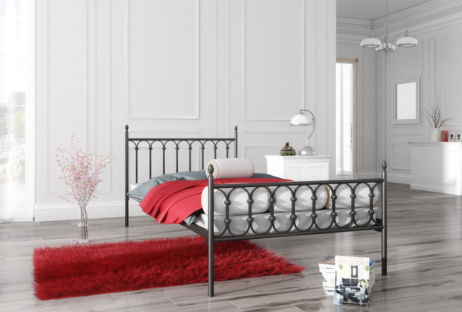 Łóżko metalowe wzór 8