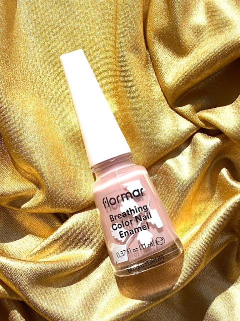 flormar breathing color nail enamel 17 delicate lilac