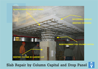 Parking Plaza Slab Repair by Providing column Capital and Drop Panel