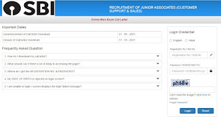 SBI Clerk Mains Admit Card 2021