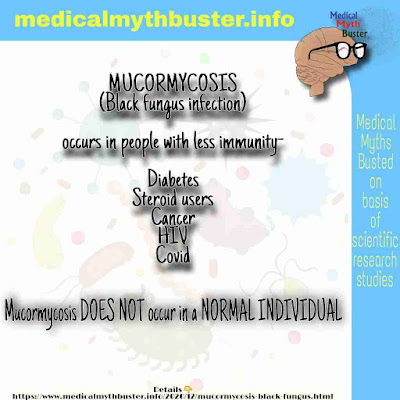 What is MUCORMYCOSIS a.k.a BLACK FUNGUS INFECTION? Causes, Reason, Symptoms, Risk population, Treatment ,Severity and Prevention