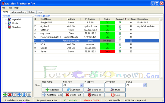 AgataSoft PingMaster Pro Full Version