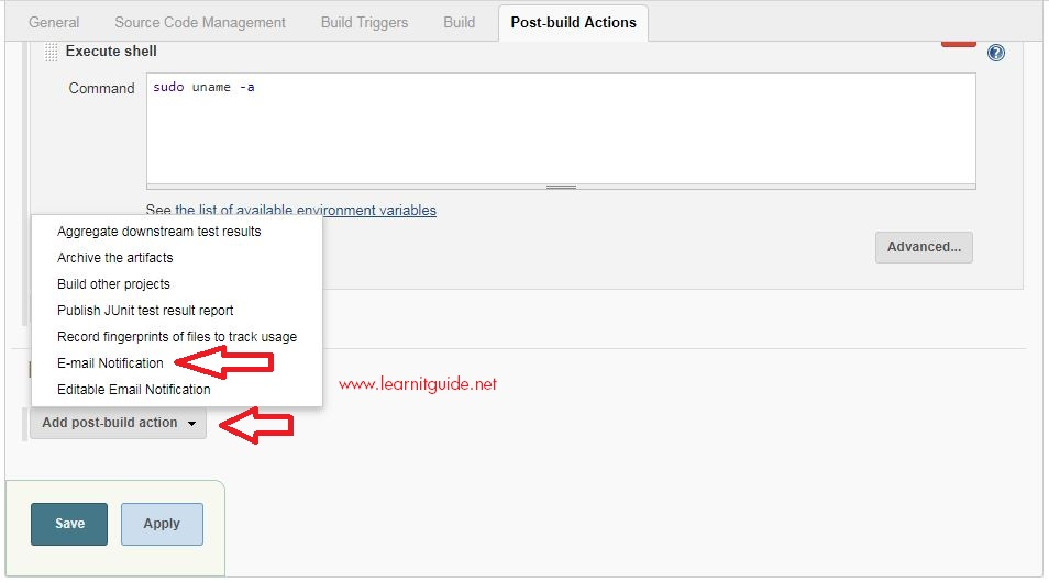 How to Configure Jenkins Mail Notification on Build Failures