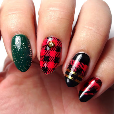 Plaid Nails