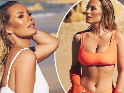 Kate Wright looked incredibly hot as she modelled swimwear from her new clothing collection
