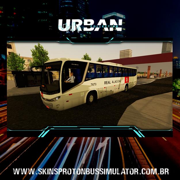 Skin Proton Bus Simulator: Marcopolo Audace MB OF-1721 4X2 Viação Real Alagoas