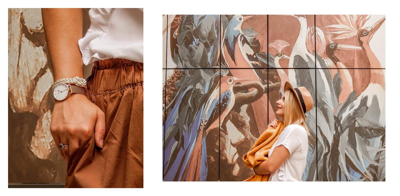 9 łódź podwórko artystyczne przy ul. Więckowskiego 4 murale łódzkie graffiti artystyczne podwórka miejsca które warto zobaczyć instafriendly miejsca w łodzi na sesje zdjęciowe dla blogerów ładne piękne kolorowe