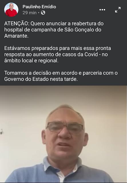 Screenshot_2021-03-03-21-58-01-1 Prefeito da Grande Natal anuncia reabertura do Hospital de Campanha