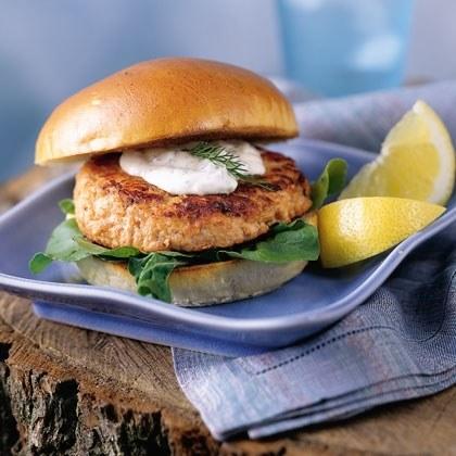 Pacific Coast Salmon Burgers Recipe