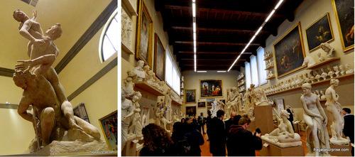 Gipsoteca Bartolinni, na Galleria dell'Accademia, em Florença