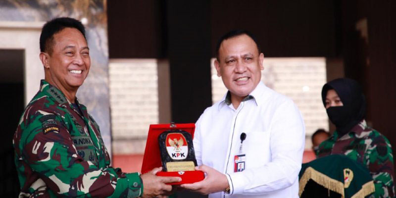 TNI AD Terima Aset Seluas 53 Hektare Bernilai Rp20,02 Miliar dari KPK