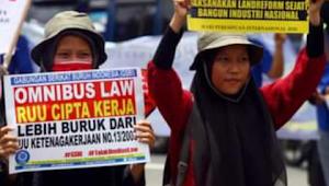 Tolak Omnibus law, Buruh mogok nasional